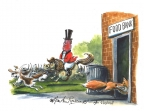 Fox Food Bank by Martin Rowson