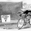 Londoner Cycle by Martin Rowson