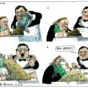 EU Vomit by Martin Rowson