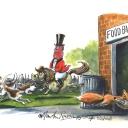 Fox Food Bank by Martin Rowson
