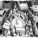 Londoner Spring by Martin Rowson